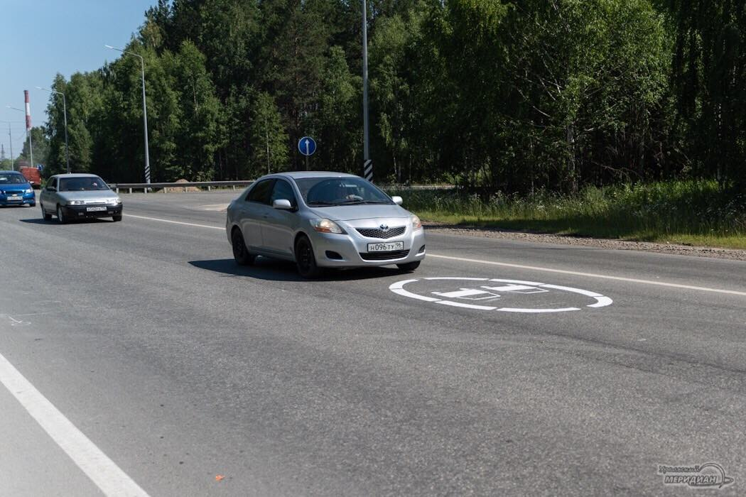 Разметка трасса дорога Знак обгон запрещен