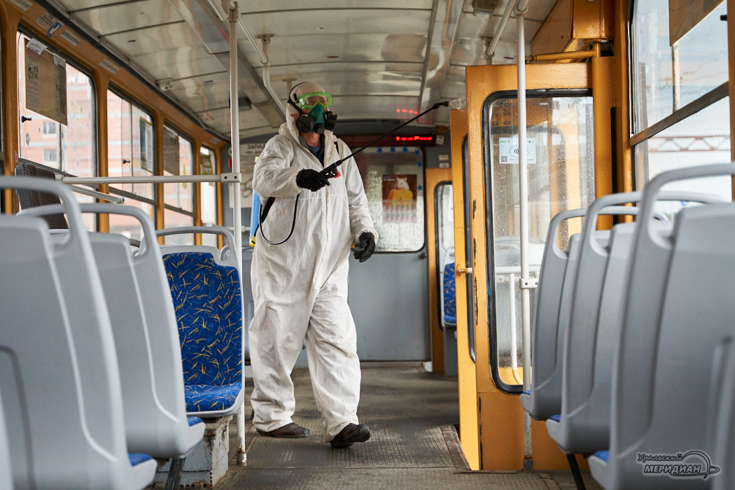 дезинфекция трамвай карантин Екатеринбург