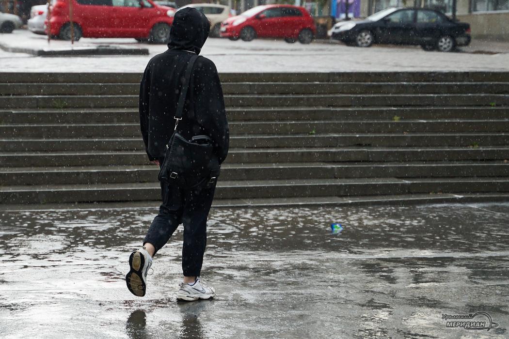 дождь пешеход человек улица