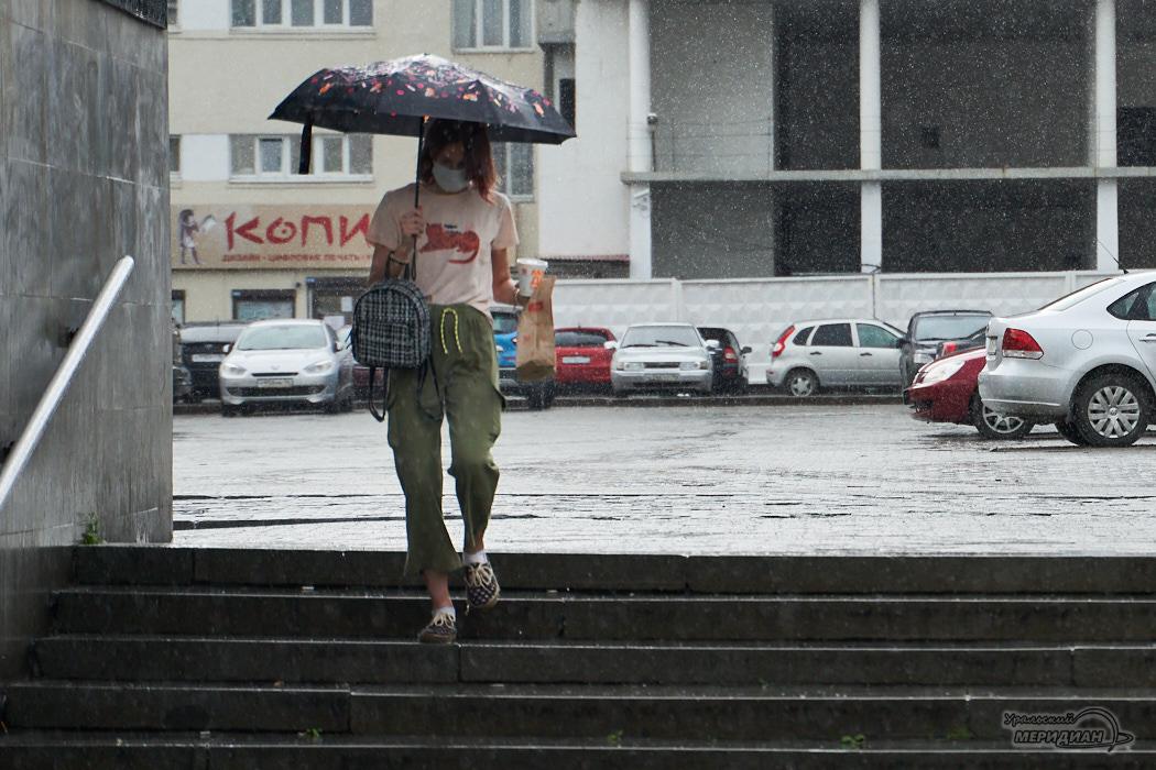 дождь пешеход человек улица зонт