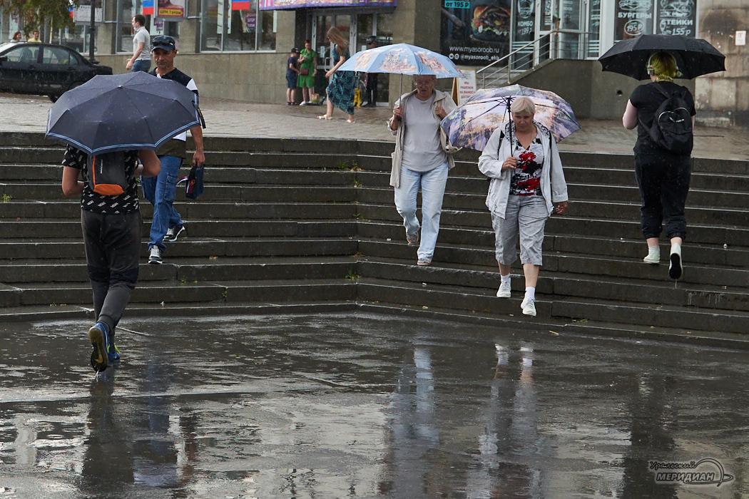 дождь пешеход люди улица зонт