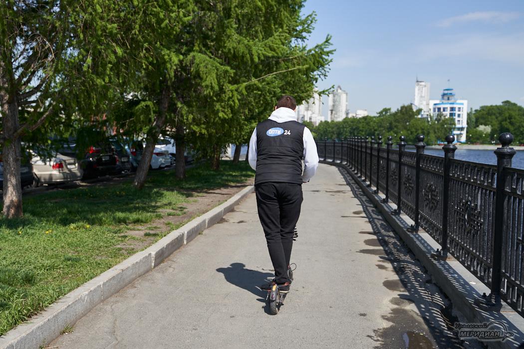 набережная исеть самокат человек Екатеринбург