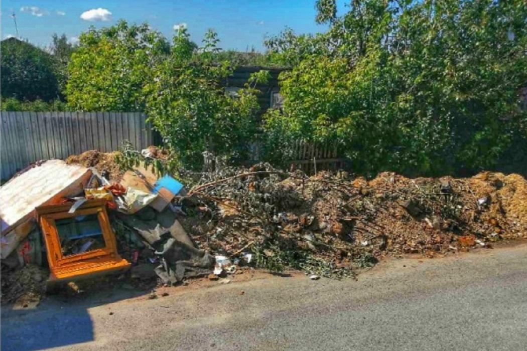 Жителей Ишима штрафуют за свалку мусора